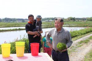 香り米プロジェクト 田植えの師匠