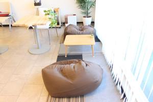 ソシラボの休憩スペース