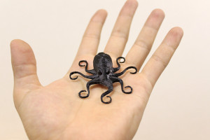 3Dプリンターで作ったタコ